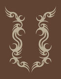 Abstract design on brown Royalty Free Stock Images