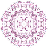 The abstract design of a circular pattern. The abstract design of a circular pattern in Oriental style. Vector Stock Photo