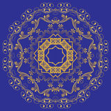 The abstract design of a circular pattern. Round Mandala. Stock Photos