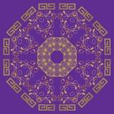 The abstract design of a circular pattern. Round Mandala. Royalty Free Stock Photos