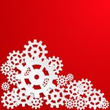 Abstract design with cog wheel Stock Photos