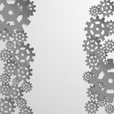 Abstract design with cog wheel Royalty Free Stock Photo