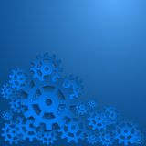 Abstract design with cog wheel Stock Images