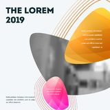 Abstract design of colourful vector elements for modern background with soft lines for business branding print. Abstract design of vector elements for graphic royalty free illustration