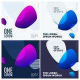 Abstract design of colourful vector elements for modern background with soft lines for business branding print.Set. Abstract design of vector elements for vector illustration