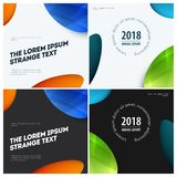 Abstract design of colourful vector elements for modern background with soft lines for business branding print.Set. Abstract design of vector elements for royalty free illustration