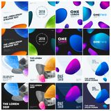 Abstract design of colourful vector elements for modern background with soft lines for business branding print.Set. Abstract design of vector elements for stock illustration