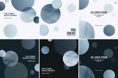 Abstract design of colourful vector elements for modern black background with soft rounds dots. Abstract design of vector elements for graphic template. Modern royalty free illustration