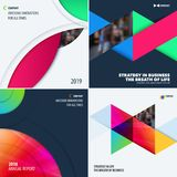 Abstract design of colourful vector elements for smooth background with round shapes for business branding summer. Abstract design of vector elements for Stock Photography