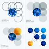 Abstract design of colourful vector elements for smooth background with round shapes rinds for business partnership. Abstract design of vector elements for Royalty Free Stock Photo