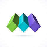 Abstract design concept. Can be used as corporate identity, logo Stock Images
