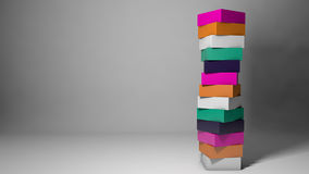 Abstract design concept with colorful cubes Royalty Free Stock Image