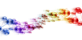 Abstract design, connected circles / network concept Stock Photography