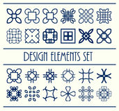 Abstract design creative decorative elements set. Vector illustration. Decor shapes collection Stock Images
