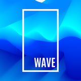 Abstract Design Creativity Background of Blue Waves. Frame with space for text. Smooth wave. Sea water texture. Wavy backdrop. Abstract Design Creativity Stock Photos