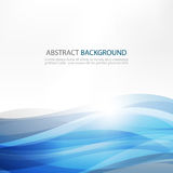 Abstract Design Creativity Background of Blue Waves. Vector Illustration EPS10 Royalty Free Stock Photos
