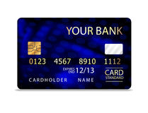 Abstract design of credit card. Stock Image