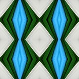 Abstract design with cuts of fabric in white, green and light blue colors, background and texture. Backdrop for colors related ads, geometric pattern with vector illustration