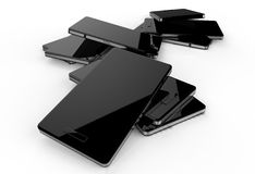 Abstract design 3d mobile phone. On white background Stock Photo