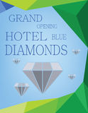 Abstract design for diamond hotel grand opening. Digital vector image Royalty Free Stock Images