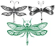 Abstract design dragonfly.Vector collection Royalty Free Stock Photography