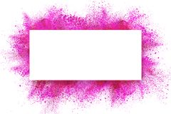 Abstract dust explosion frame background stock illustration