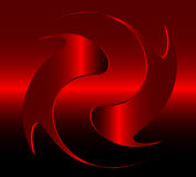Abstract design element. Red gradient, can be used as logo stock illustration