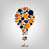 Abstract design element with bulb Stock Photo