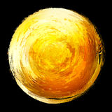 Abstract design element.  Circle painted with brus Stock Photo