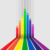 Abstract design element with colorful lines Stock Images