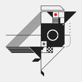 Abstract design element in constructivism style Stock Images