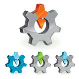 Abstract design element - gear. Vector illustration Stock Photography