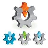 Abstract design element - gear. Vector illustration royalty free illustration