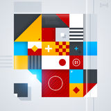 Abstract design element with glossy geometric shapes. Useful for digital compositions and layouts. EPS10 royalty free illustration