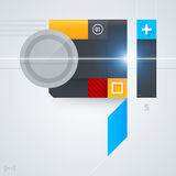 Abstract design element with glossy geometric shapes. Royalty Free Stock Image