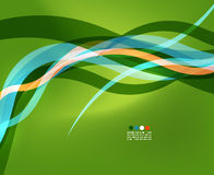 Abstract design element - green wave Royalty Free Stock Image
