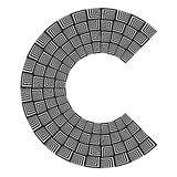 Abstract design element. Letter C. Royalty Free Stock Photo
