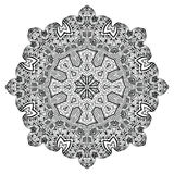 Abstract design element. Round mandala in vector. Graphic template for your design. Royalty Free Stock Photography