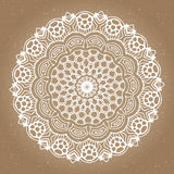 Abstract design element. Round mandala in vector. Graphic template for your design. Stock Image