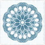 Abstract design element. Round mandala in vector. Graphic template for your design. Circular pattern. Stock Images