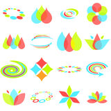 Abstract design elements. Or icons in red, green, and blue Royalty Free Stock Photography