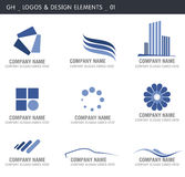 Abstract Design Elements. Logos and abstract design elements. Gh designs Stock Photo