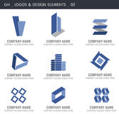 Abstract Design Elements. Logos and abstract design elements. Gh designs Stock Images