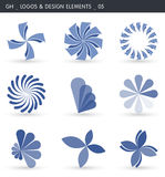 Abstract Design Elements. Logos and abstract design elements. Gh designs Royalty Free Stock Image
