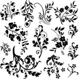 Abstract design elements. Abstract ornament, illustration with floral design elements, vector Royalty Free Stock Photography