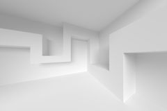 Abstract Design Elements. 3d White Interior Background. Abstract Design Elements Stock Image