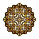 Abstract design elements. Round mandalas in vector. Graphic template for your design. Decorative retro ornament. Stock Photography