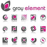 Abstract design elements. Set 4. Royalty Free Stock Photos