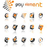 Abstract  design elements. Set 5. Stock Photo