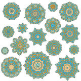 Abstract design elements. Set of round mandalas in vector. Graphic template for your design. Stock Photography